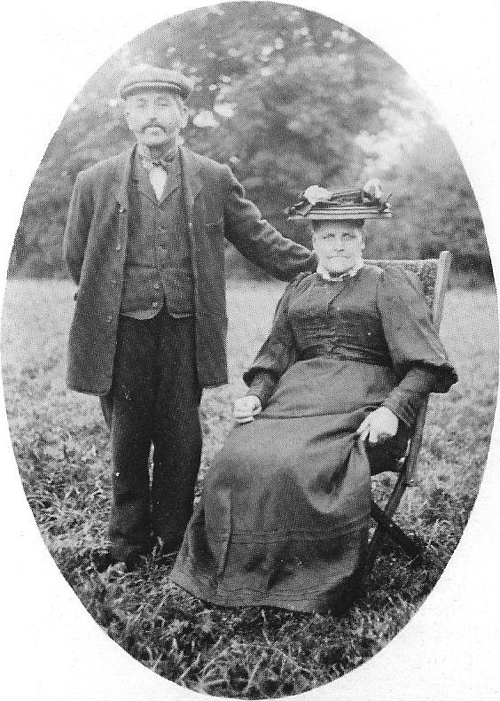 Mr Eli Trotman and his wife Ellen, about 1910.