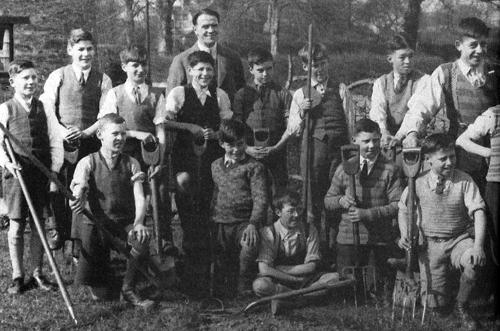 Shipton School Gardeners, 1935.