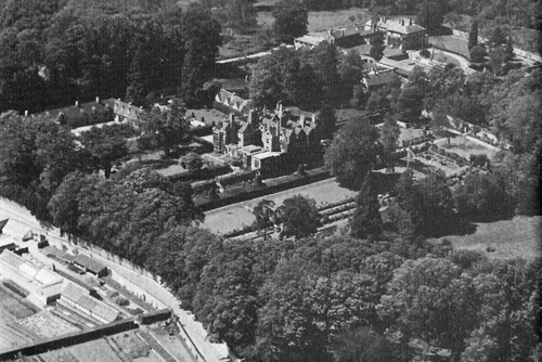 Aerial View of Shipton Court, 1930s.