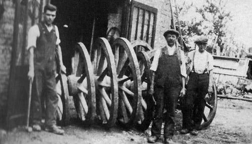 Wheelwrights at Ascott, 1930s.