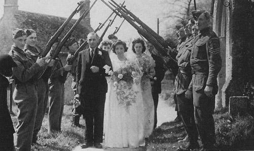 Wedding at Swinbrook, summer, 1943