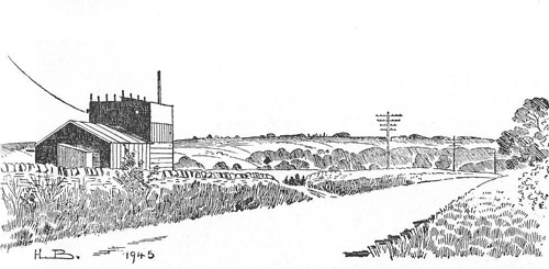 Sketch of Post Y.1 by Hope Bourne, 1945. From the W.I. booklet Milton and Shipton During the War