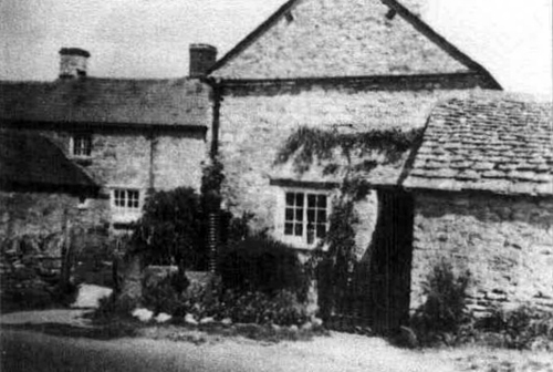 'Top house', Blenheim Cottages, Burford Road about 1945