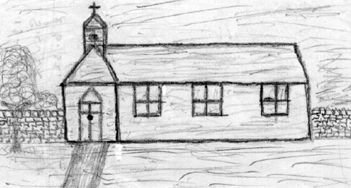 The Tin Tabernacle Sketch by Gordon Duester